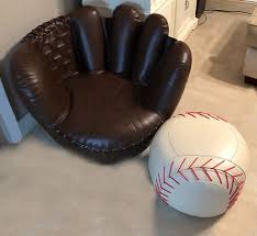 baseball glove chair and ottoman sports room decor mancave furniture in boynton beach fl offerup