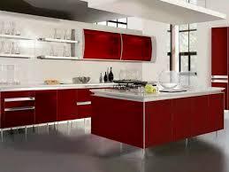 image modern kitchen lighting. Red White Minimalist Kitchen Lighting Image Modern G