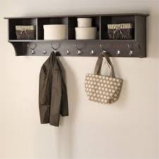 Hanging Coat Rack On Wall Inspiration Pemberly Row Wall Hanging Coat Rack In Espresso Walmart