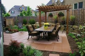 Patio Designs For Small Yards Lawn Garden Small Backyard Landscaping Ideas Home And