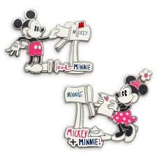 Disney 2 Pin Set - Mickey and Minnie Mouse Sweethearts Mailbox