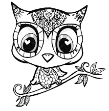 Cute Owl Coloring Pages For Adults Archives With Owl Coloring