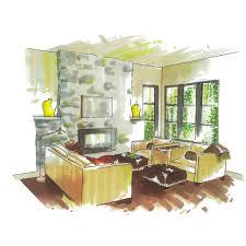 Marker Rendering Interior Design Rendering By Lucy Interior Design Lucyinteriors Lucys