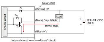 cylindrical compact inductive proximity sensor gx i o circuit and Inductive Proximity Sensor Wiring Diagram i o circuit diagram inductive proximity sensor circuit diagram