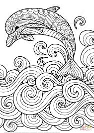 079536113a08440d3170c7ba79b5f51a delf�n zentangle saltando las olas del mar super coloring on printable coupons bath and body works 10 off 30