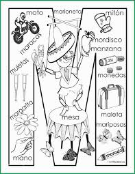 Spanish Alphabet Coloring Pages Pretty M Coloring Page