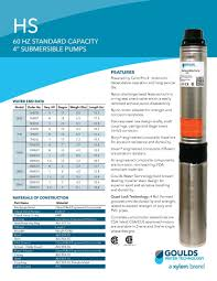 goulds hs submersible pump 5hs05422c goulds hs series pump info