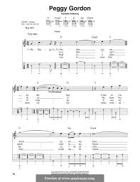Peggy Gordon by folklore - sheet music on MusicaNeo