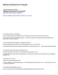 Fillable Online Medical Certificate Form Png Pdfslibforme