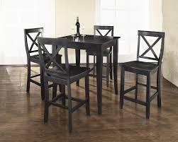 5 Piece Bar Table Set 42u0026quot Round Bar Height Table Coaster Oswego Round Pub Table