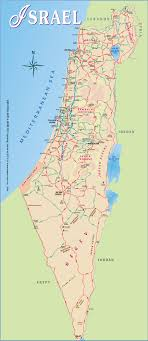 maps update  israel tourist map – tourist map of israel