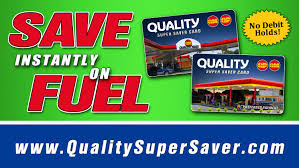 the quality super saver card at paring locations only
