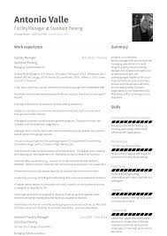 Facility Manager Resume Samples Facility Manager Resume Samples Templates Visualcv