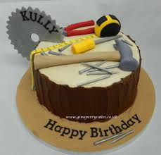 Cupcake Designs For Men Builder And Carpenters Birthday Cake 60th Birthday Cakes
