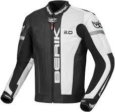 berik asymatic motorcycle leather jacket black white grey jackets berik street gloves