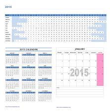 37 Word Calendar Template 2015 2015 Year And Monthly Calendar