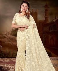Stunning Designer Sarees Stunning Cream Designer Saree