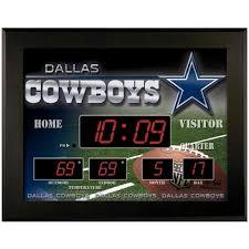 dallas cowboys scoreboard wall clock designs
