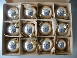 12 Christbaumkugeln Silberfarben Klar Weihnachtsbaum Christbaumschmuck Lauscha