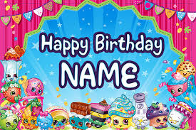 custom happy birthday banner shopkins birthday banner custom
