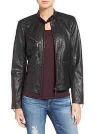 bernardo kirwin leather jacket regular petite
