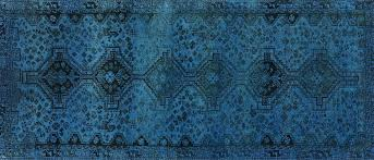 blue overdyed rug 4 runner hand knotted blue oriental wool area rug