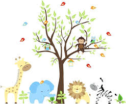 large size of kids room nursery animals baby jungle wall decals suitable for interior inside stickers