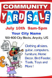 Sales Flyer Templates Yard Sale Template Beautiful Community Garage Flyer Free Sign