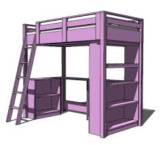 loft bed with shelves. Unique Loft So Back To The Drawing Board And Weu0027ve Got A Simple Workspace Storage  Space Under Bed I Can Just Imagine Baskets Bins Filling Up All Those  In Loft Bed With Shelves
