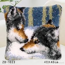 2019 latch hook rug kits diy needlework unfinished crocheting rug yarn cushion mat embroidery carpet rug bear with love home decor from hayoumart6