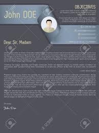 Resume Modern Ex Modern Cover Letter Cv Resume Template With Ribbon Header