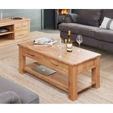 Image baumhaus mobel Oak Dining Av4home Baumhaus Mobel Oak Four Drawer Coffee Table cor08d