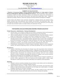 Marketing Resume Summary Statement Exles Storeroom Clerk Cover