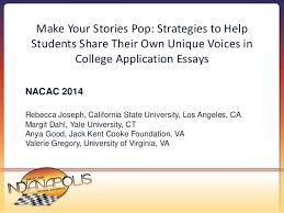 nacac make your stories pop strategies to help students s make your stories pop strategies to help students share their own unique voices in college