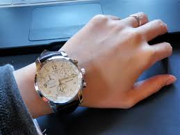 """men s tissot prc200 chronograph watch t17151632 watch shop comâ""""¢ as a lady a wrist size of 5 8inches i was worried that a mens watch would not sit snugly however it wasn t that bad though i got another hole"""