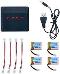 Cloudsemi <b>JJRC H36</b> Drone Lipo Battery 4 Batteries Set with ...