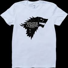 House Stark T Shirt Design Game Of Thrones House Stark Winter Is Coming White Custom Made T Shirt T Shirts Deals Super Cool T Shirts From Liguo0047 15 53 Dhgate Com