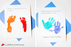 Handprint And Footprint Fathers Day Card Thanks For Holding My Hand