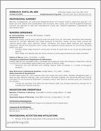 Nursing Resume Template Awesome Professional Cv Examples Elegant Professional Summary For Nurse