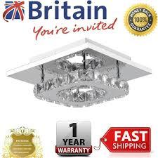 square led crystal ceiling lights chandeliers aisle light 20cm 12w uk