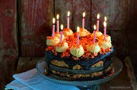 chocolate birthday cake with candles. Perfect Chocolate The Best Vegan Birthday Cake Includes Butterfinger Topping And Cookie Dough  Layers With Chocolate In Chocolate Birthday Cake With Candles L