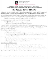Sample Resumes For Jobs Job Objective Sample 8 Examples In Word Pdf