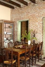 rustic dining room chairs source hafoti org 40 rooms with exposed brick detail