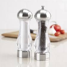 trudeau maison brio acrylic salt pepper mill set of 2 clear kitchen stuff plus