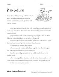 Kids. teaching punctuation worksheets: Sentence Punctuation ...