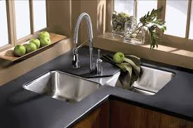Modern Undermount Kitchen Sink Fascinating Vaulted Kitchen Basin Sinks With Brass Arch Faucet For