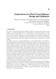 Wind Tunnel Balance Design Pdf Components Of A Wind Tunnel Balance Design And Calibration