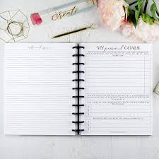Design Your Own Planner Inserts Amazon Com Goal Planning Planner Inserts Letter Discbound