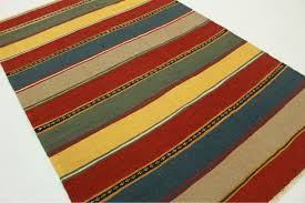 kilim rug red blue yellow in 260x170cm 1 4