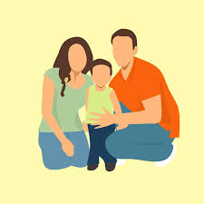 Image result for family of 3 cartoon